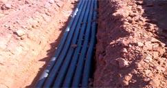Instalação de banco de dutos 2x3em PEAD de 100mm